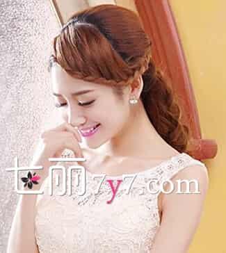 韩式简单的伴娘发型图片 自己设计独具浪漫感图片