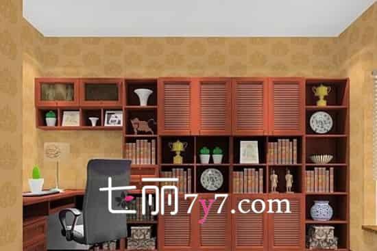 书房装修效果图 现代中式风格尽显大气风范