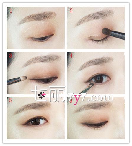 如何用眼影画眼线 不用眼线笔的眼线画法