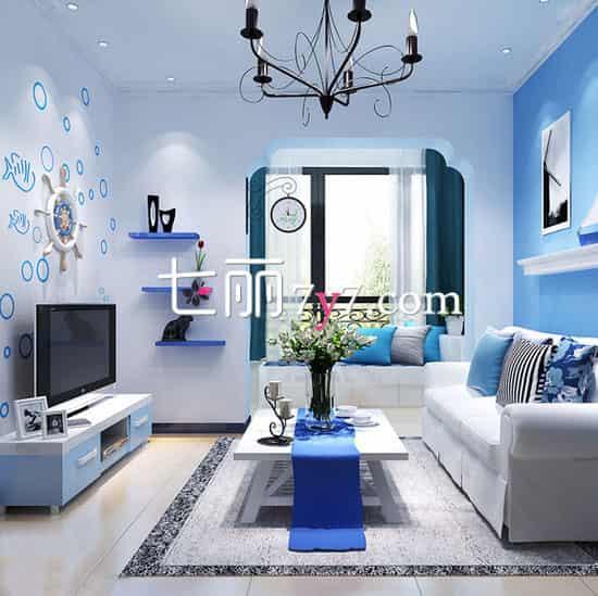 小户型客厅设计效果图 舒服温馨悠然自得高清图片