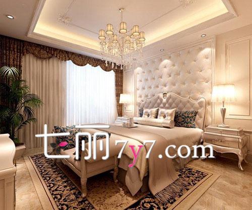 卧室床头背景墙贴装饰效果图