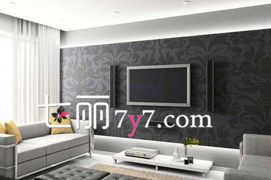 电视背景墙一 现在简约风格的客厅装修,整个客厅的装修以素雅的颜色为主,液晶电视背景墙采用的是高雅灰色花纹壁纸装点。颜色和整个客厅的氛围都比较的协调,也显得十分的大气!  客厅电视背景墙二 淡蓝色的主打色下,深蓝色沙发和黄色地毯格外抢眼,在不破坏空间完整性的情况下,运用灯光、地板结合墙体分隔出客厅中的每个位置,利用简单的白色木板,加上欧式的桌子以及一些配饰打造出一个十分简约背景墙,十分的抢眼吸睛。 扩展阅读: