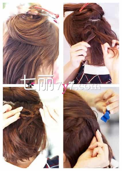 短发怎么扎好看 简单清爽扎发发型图片