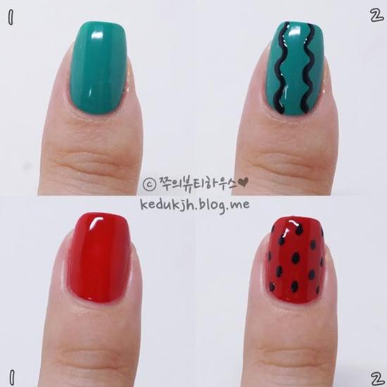 可爱美甲图片韩版 谁说夏天才有西瓜的?