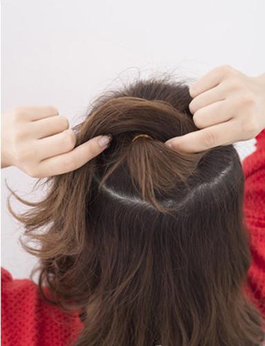 半扎发教程图解,半扎发教程步骤,半扎发型扎法 (2)
