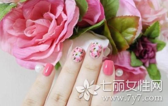 美甲玫瑰花简单画法,美甲玫瑰花的画法步骤图片