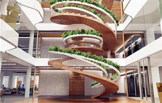 拉伸楼梯结构图