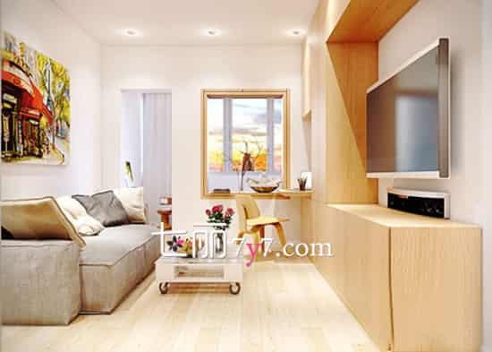 015客厅时尚电视背景墙效果图 精致简约美到人心