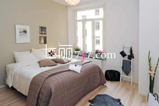 纯白色北欧卧室设计装修效果图