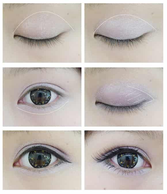 紫色眼影的画法步骤图,紫色妆容