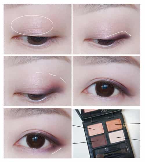 四色眼影的用法图解,四色眼影的画法步骤图解