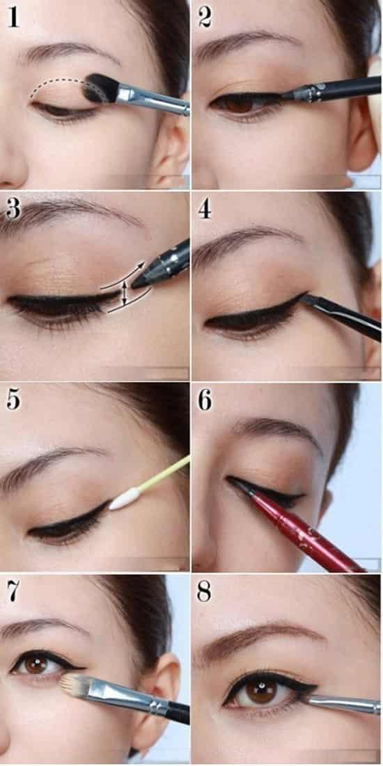 眼线液笔的画法 眼线液画法步骤图解