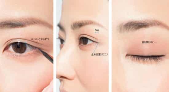 外眼角下垂怎么画眼线