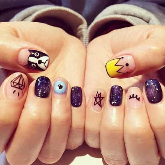 短指甲美甲图片2015款式