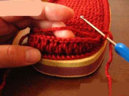 毛线保暖鞋棒针织法图解 教你怎么用手工棒针编织拖鞋