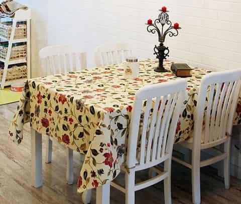 欧式餐桌布贴图搭配 打造春天迷人韩式榻榻米客厅装修图