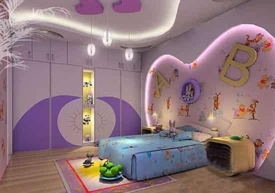 时尚点评:此款卧室,重在于床头背景墙的心形设计