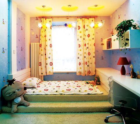 儿童卧室装修效果图大全 打造超清新唯美彩色榻榻米儿童房