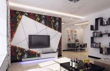7款时尚唯美的小户型客厅电视机背景墙效果图