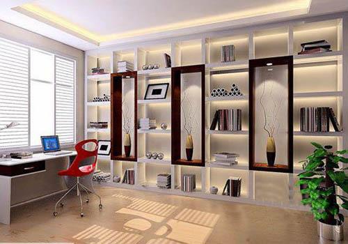 2011韩式田园简约风格书房装修效果图 呈现书房舒适心境