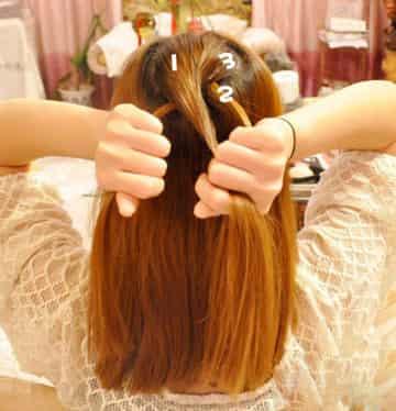 韩式优雅蜈蚣辫盘发的编法图解 浪漫优雅ol上班发型图片