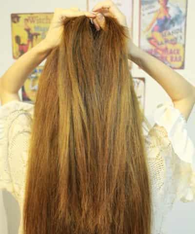 韩式简单编发教程 淑女范长直发发型图片