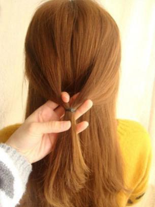 韩式编发盘发步骤 中长发发型扎法打造仙女气质图片