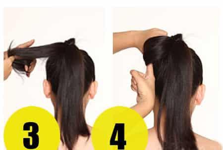 蝴蝶结发型的扎法图解,简单发型演绎经典时尚图片
