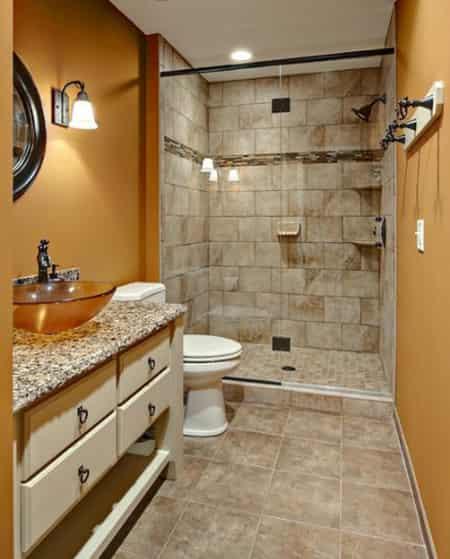 时尚浴室装修效果图 打造家居神秘空间