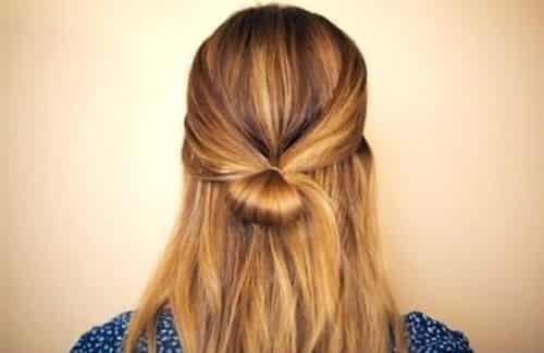 蝴蝶结发型扎法步骤图解 学扎简单时尚发型图片