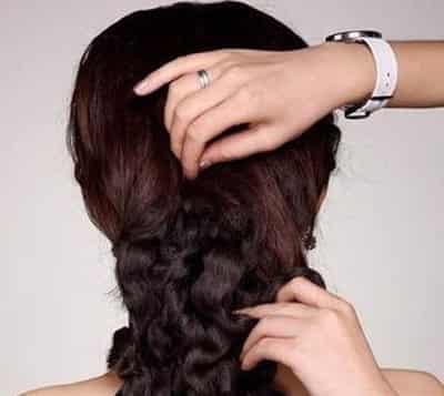 韩式新娘发型 盘发的详细步骤图片