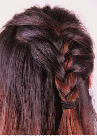 图解侧编公主发型扎法步骤 diy超瘦脸甜美发型