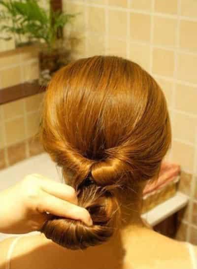 简单的盘发方法步骤教学 一分钟_发型设计图片