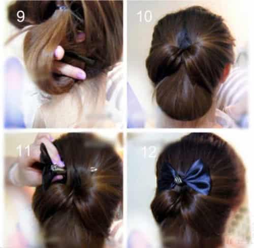 四款韩式盘发发型扎法步骤教程 优雅气质ol淑女范速成