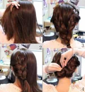 5款简单韩式盘发发型扎法 让你清清爽爽过夏天