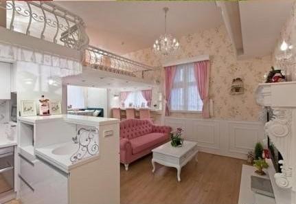 就是算50㎡的单身公寓, 只要你喜欢隔层, 依然可以设计出一个可爱的小