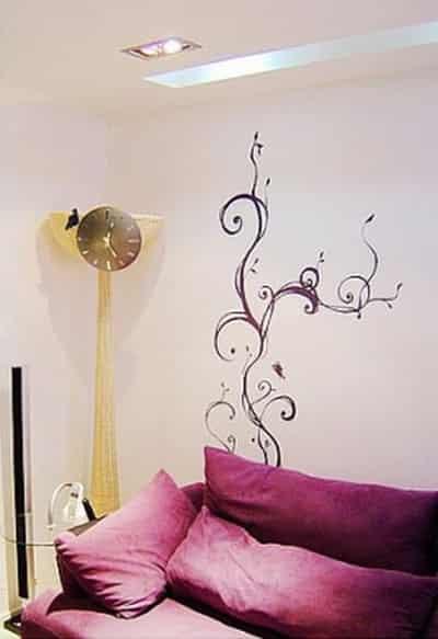 80后时尚家居手绘墙画