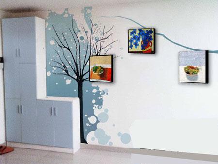 80后时尚家居手绘墙画 墙面空间的独特创意