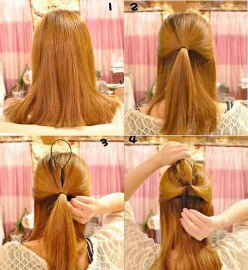 四款简单韩式发型扎法步骤 几分钟就能快速上手图片