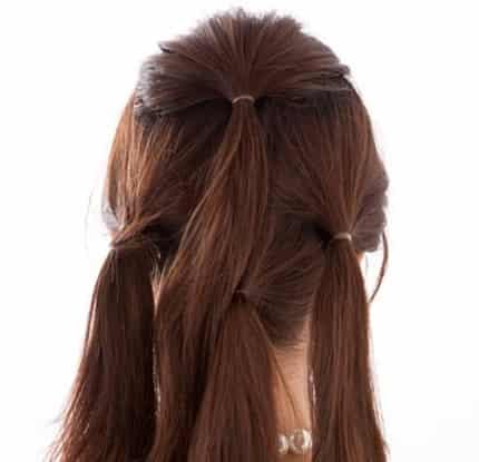 中短发怎么扎花苞头 2款韩式花苞头简单扎法图解