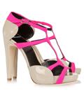夏季新款时尚性感女高跟凉鞋 魅力缤纷色彩美轮美奂