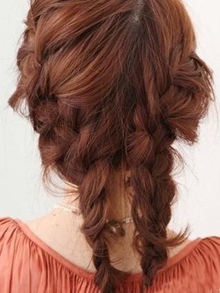 韩式麻花辫编发盘发教程,快速变身优雅气质发型