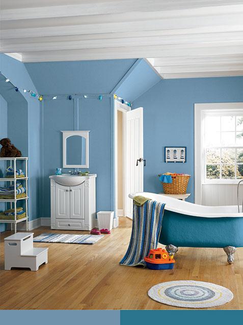浅蓝色墙面颜色效果图