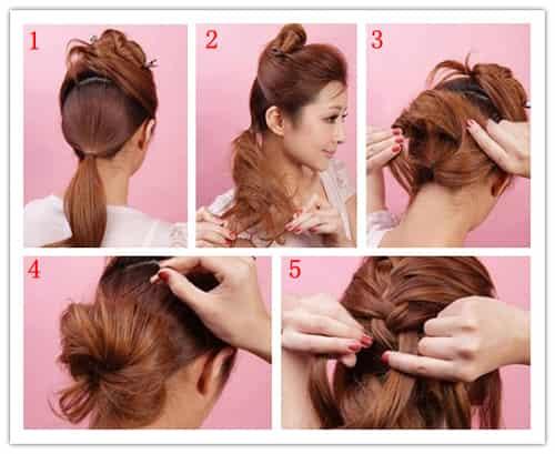 超简单韩式优雅盘发发型 3分钟变气质女王