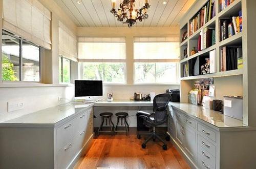 书房设计装修效果图 弥漫书香气息 - 七丽女性网