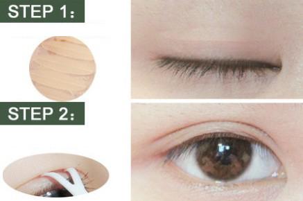 步骤3:使用2号粉色眼影在虚线范围内进行涂抹晕染.