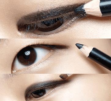 单眼皮眼线眼影的画法 新手化妆教程图解