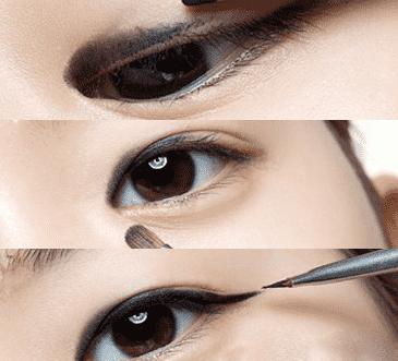眼影教程图片步骤