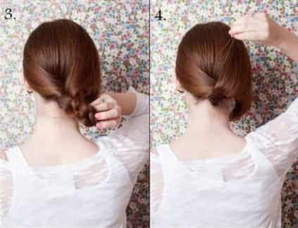 长发变短发简单扎法 漂亮短发发型不用剪