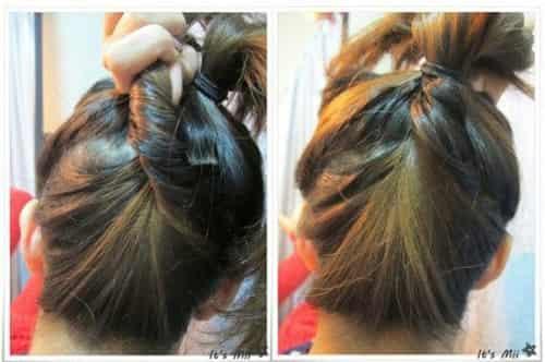 扁头适合什么发型 diy日系马尾甜美可爱